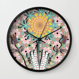 Flower Garden Wall Clock