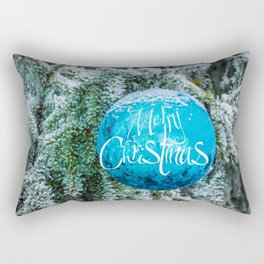 Christmas blue bauble Rectangular Pillow