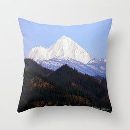 Mount Lassen... Throw Pillow