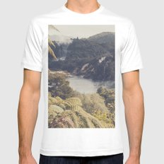 New Zealand's flora 03 MEDIUM Mens Fitted Tee White