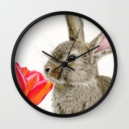 Smells Like Spring Wall Clock