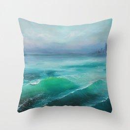 Hazy Lake Throw Pillow
