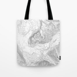 NORTH BEND WA TOPO MAP - LIGHT Tote Bag
