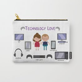 Technology Love Carry-All Pouch