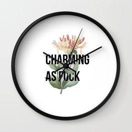 Charming as F**k Wall Clock