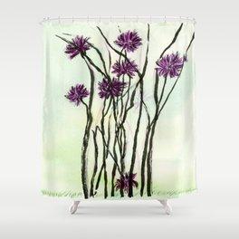 Invasive Knapweed Shower Curtain