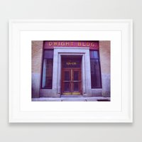 dwight Framed Art Prints featuring Dwight Building  by Madison Daniels