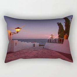 Pathway to the Sea - Sunset image Rectangular Pillow