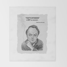Christopher Hitchens Throw Blanket