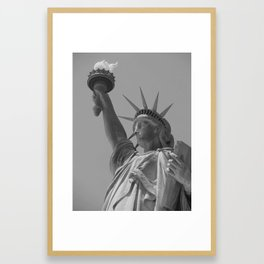 The Statue of Liberty in New York City 4 BW Framed Art Print