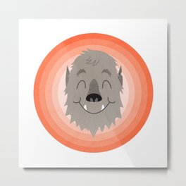 Wally the Happy Werewolf Metal Print