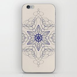 Ornate Star with Arabesque Line iPhone Skin