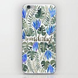 Tropical Wanderlust – Periwinkle iPhone Skin