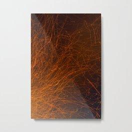 Spark Trails Metal Print