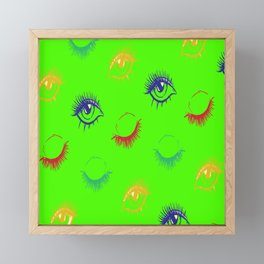 Girly Eye Leash Pattern Women Gift Framed Mini Art Print
