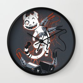 Cybercat Charges Up Wall Clock