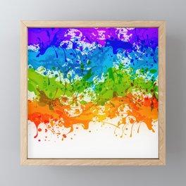 Colorful Splashes Framed Mini Art Print