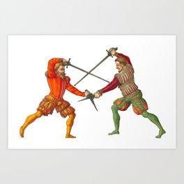 A Gentlemen's Duel Art Print