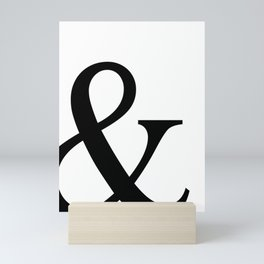 Typography, Ampersand, And Sign Mini Art Print