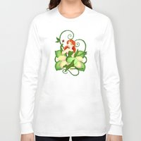 poison ivy Long Sleeve T-shirts featuring Poison Ivy  by Katie Simpson a.k.a. Redhead-K
