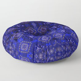 N128 - Royal Blue Traditional Oriental Moroccan Style Design  Floor Pillow