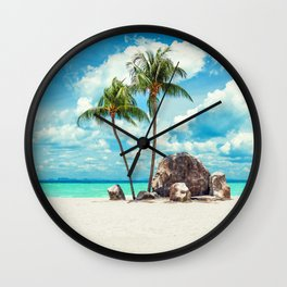 Amazing Tropical beach Wall Clock