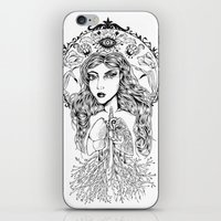 lungs iPhone & iPod Skins featuring Lungs by jemmalobweinart