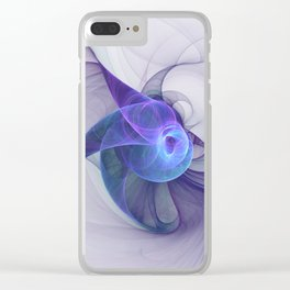 The Curious, Abstract Fractal Art Clear iPhone Case