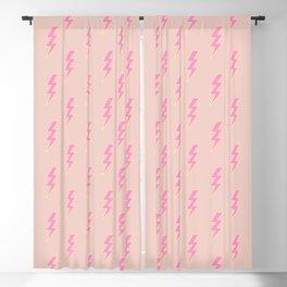 Lightning Bolt Print Thunder Lightning Bolt Pattern Thunderbolt Peach And Pink Colors Pattern Blackout Curtain