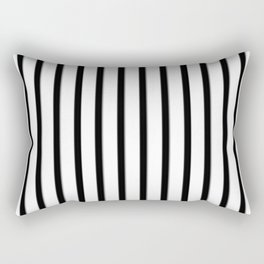 Stripes Black And White | Beetle Juice | Fuzzy Rectangular Pillow