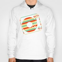 record Hoodies featuring Retro Record by Sabrina