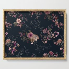 Japanese Boho Floral Serving Tray