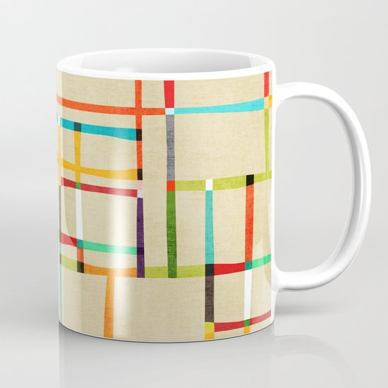 The map (after Mondrian) Mug