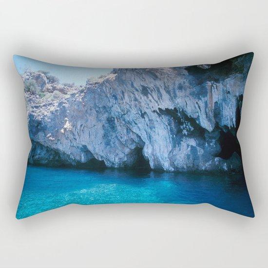 NATURE'S WONDER #5 - BLUE GROTTO (Turkey) #2 #art #society6 Rectangular Pillow