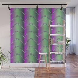 Purple&Green Textured Pattern Wall Mural