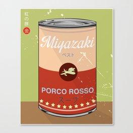 Porco Rosso - Miyazaki - Special Soup Series  Canvas Print