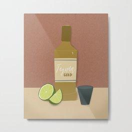 Tequila Gold Print Metal Print