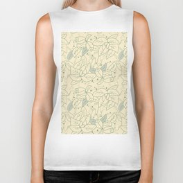 Floral pattern with thorns Biker Tank