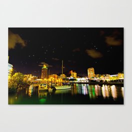Townsville CBD, Castle Hill and Ross creek. Canvas Print