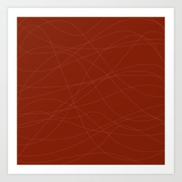 Red with Lines Art Print