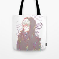 fringe Tote Bags featuring Fringe by kamikaze43v3r