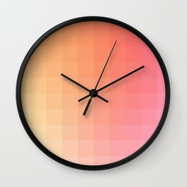 Lumen, Pink and Orange Light Wall Clock