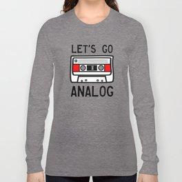 LET'S GO ANALOG - Cassette Long Sleeve T-shirt
