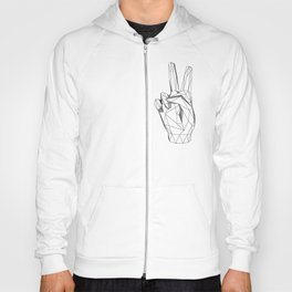 Geometric Peace sign Hoody