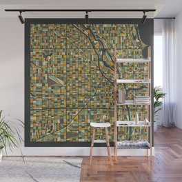 CHICAGO MAP Wall Mural