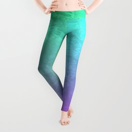 Aqua Sunset Leggings