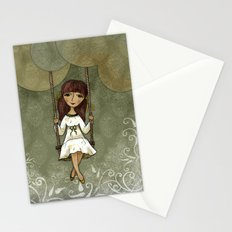 Hannah on a Swing Stationery Cards