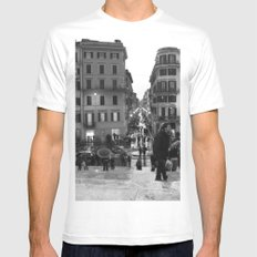 A Nice Day to be a Tourist White Mens Fitted Tee MEDIUM