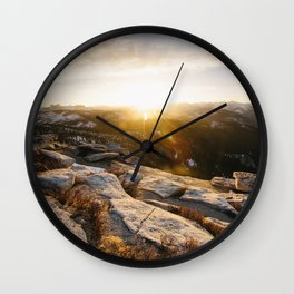 Clouds Rest Sunrise Wall Clock