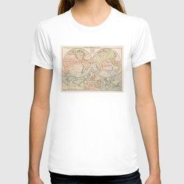 Vintage World Ocean Currents Map (1905) T-shirt